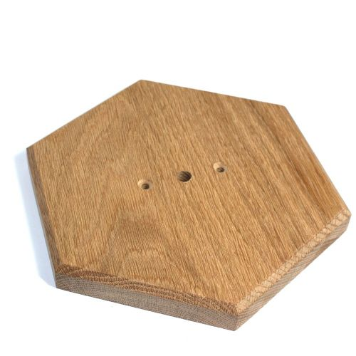 Oak Pattress Sanded Finish Hexagon Shape 216mm Dia